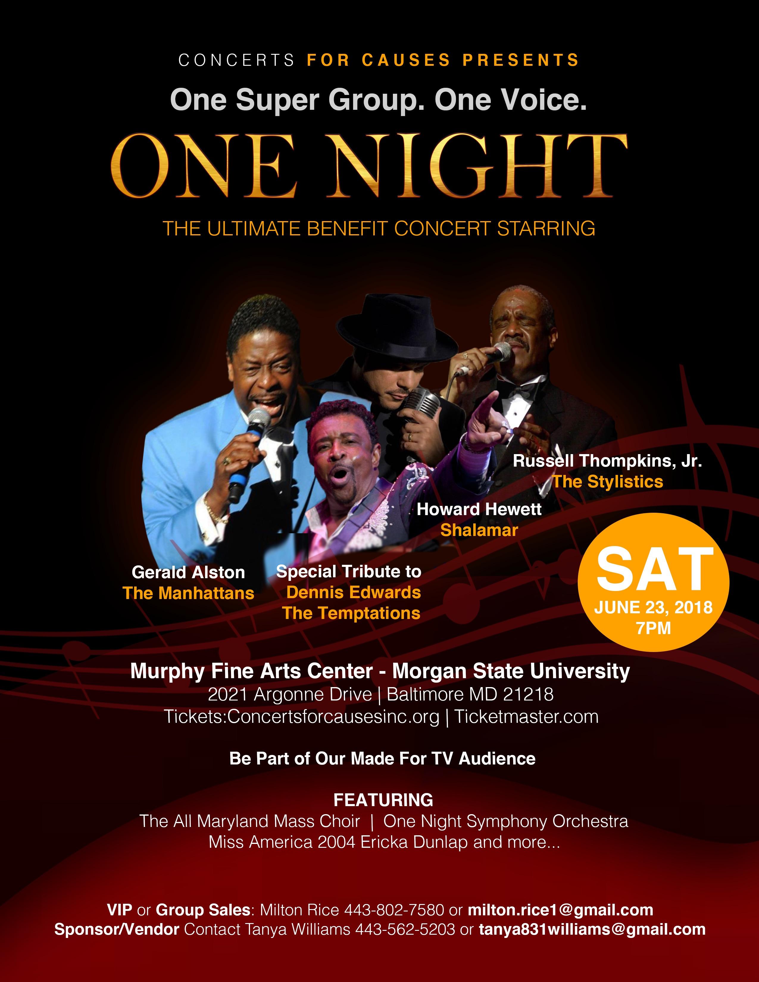 One Night flyer